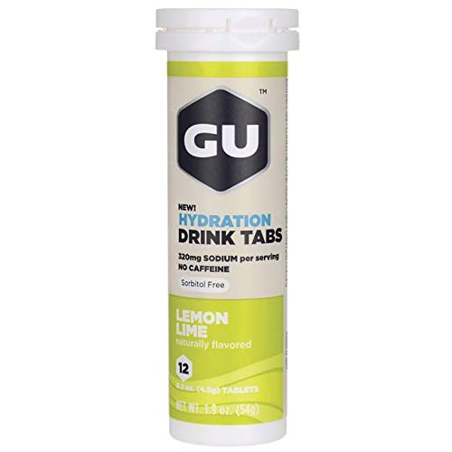 Gu Hydration Drink Tabs - Lemon Lime 12 Tabs (Tabs Drink)