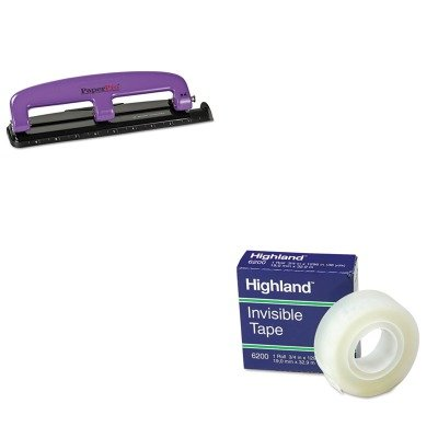 KITACI2105MMM6200341296 - Value Kit - Paperpro 12-Sheet Capacity Compact Three-Hole Punch (ACI2105) and Highland Invisible Permanent Mending Tape (MMM6200341296) by PaperPro