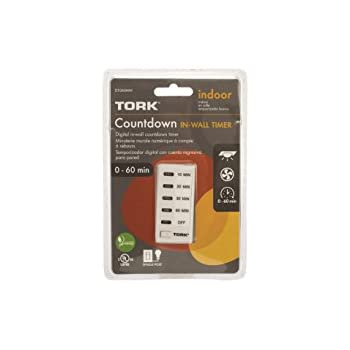 Tork D1060mw 10 20 30 60 Minute Electronic Countdown Timer White Wall Timer Switches Amazon Com Industrial Amp Scientific