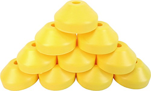 Square Deal Recordings & Supplies (10) Yellow Plastic Record Dome Adapter