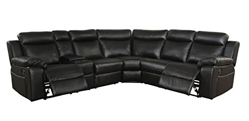 - HOMES: Inside + Out IDF-6455-SEC Reynas Sectional Recliner
