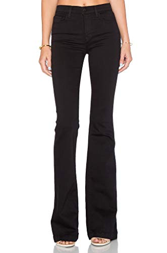 J Brand Women's Maria High Rise Flare Jeans, Seriously Black, 25 ()