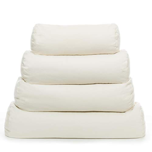 """Comfy Neck Side Sleeper Buckwheat Hull Pillow with Pillowcase - Extra Large (23"""" x 7.5"""") - Made in USA"""