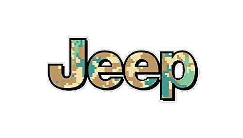 BOLDERGRAPHX 1068 Jeep Logo with Green camo 2 Pack Digital camo