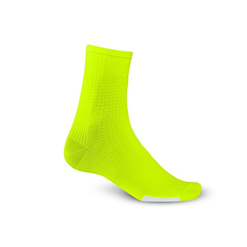 Giro Hrc Team Cycling Socks   Highlight Yellow Black Small