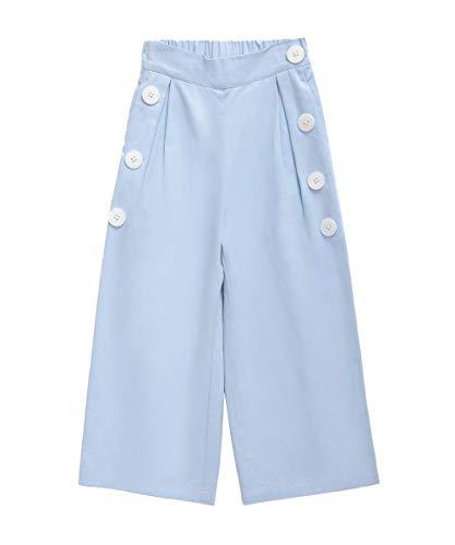 MQDOROFA Kids Girls Elastic Wide Leg Pants Loose Casual Pants for 3-8 Years