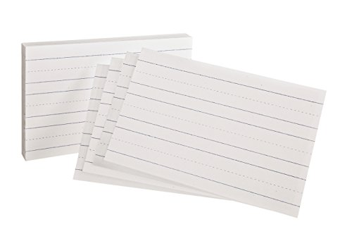 (Oxford Elementaries Primary Ruled Index Cards, 5 x 8 Inches, 100 per Pack (46002))