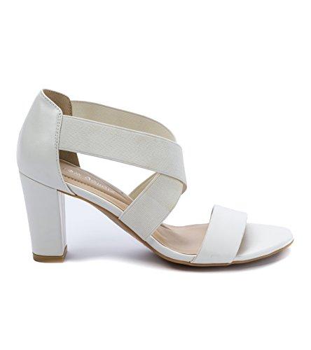 Andrew Geller Women's Heels Queena White UUWPvFwfq
