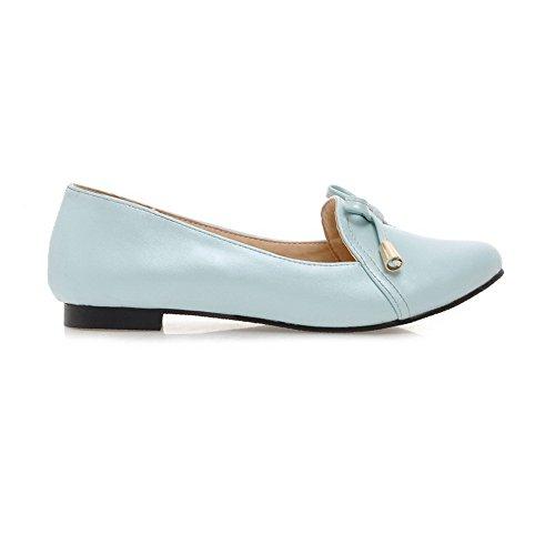 Balamasa Womens Pull-on À Bout Rond Arcs Urethane Flats-chaussures Bleu