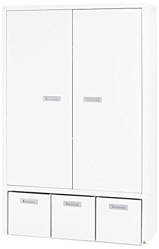 Pinolino 143405 Kleiderschrank Enzo Edelmatt MDF, weiß und farbig lackiert