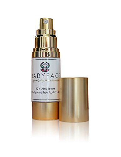 BABYFACE Potent 12% Alpha Hydroxy Acid (AHA) Serum - Wrinkles, Skin Tightening, Smoothing, Uneven Complexion, 1oz.