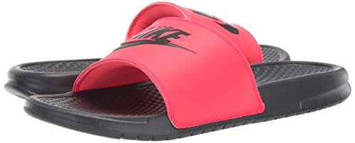 Nike Men's Benassi Just Do It Sandal red Orbit/Black - Anthracite 11 Regular US by Nike (Image #6)