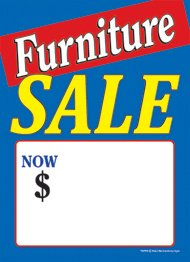 (T50FRN Furniture Sale Blue - Slotted Sale Tags - 5