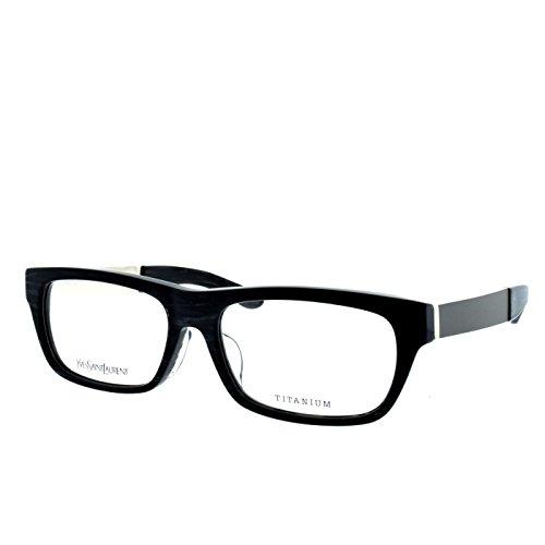 YSL Saint Laurent 4022/J 8LV rectangle black marble/silver full rim eyeglasses