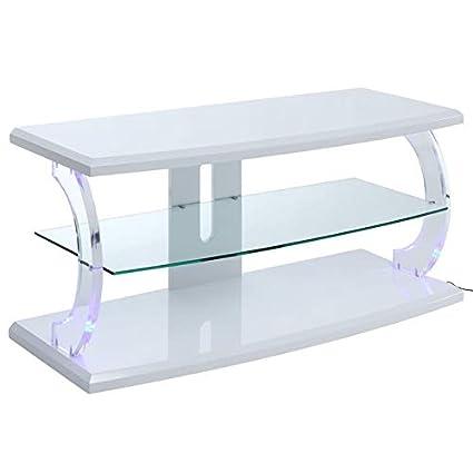 Amazon.com: ACME Furniture 91554 Aileen LED TV Stand White ...