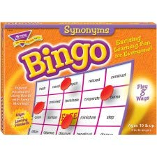 Synonyms Bingo Game, 3-36 Players, 36 Cards/Mats -