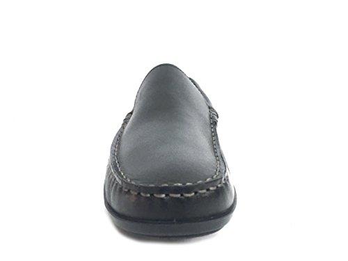 ENVAL SOFT 12051 Nero Scarpa Uomo Mocassino Pelle Made In Italy NEGRO