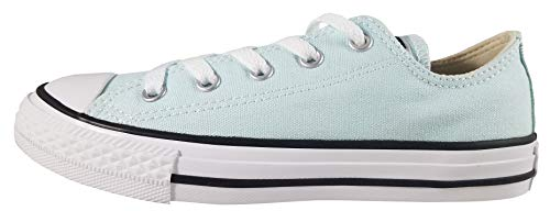Converse Girls Kids' Chuck Taylor All Star 2019 Seasonal Low Top Sneaker, Teal Tint/Natural Ivory/White, 3 M US Little