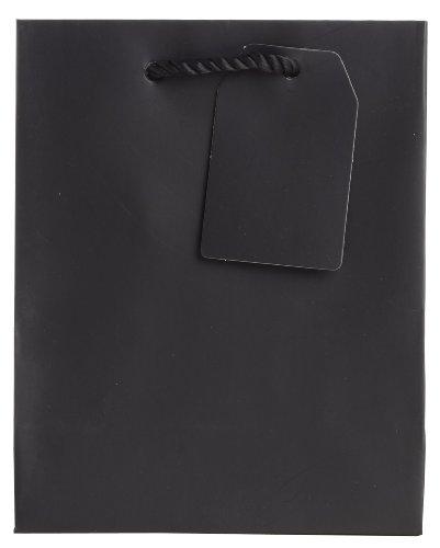 Jillson Roberts Bulk Small Gift Bags Available in 14 Colors, Black Matte, 120-Count (BST921) by Jillson Roberts
