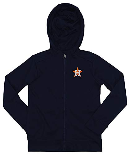 (Outerstuff MLB Astros Boys 8-20 Performance Full Zip Hoody 10/12-M)