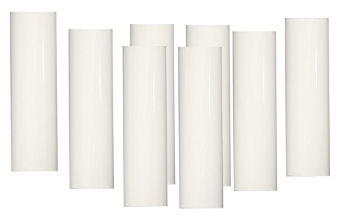 Set of 8 pc 4 Inch Tall White Candelabra Base