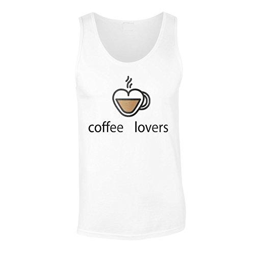 Neue Kaffee-Liebhaber Heißes Getränk Herren Tank top m131mt