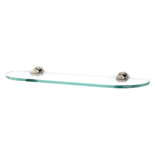 Alno A8750-18-PN Infinity Glass Shelf with Modern Brackets, 18