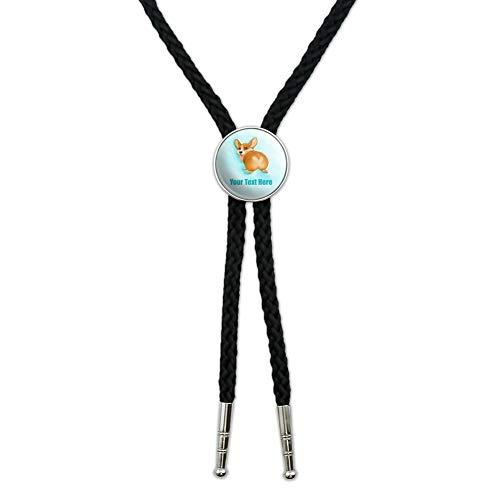 - Personalized Custom Corgi Butt 1 Line Western Southwest Cowboy Necktie Bow Bolo Tie