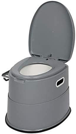 MHUI Potty Training Seat for Boys and Girls-Ergonomic Design and Anti-Splash Feature Portable Toilet with Non-Slip Mat Grey