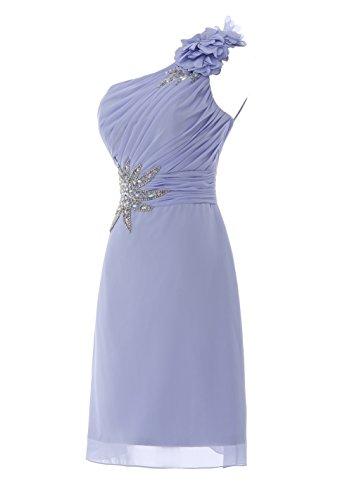 YiYaDawn Kurzes Ballkleid Cocktailkleid One-Shoulder Kleid für Damen Mintgrün uFlyTOh1