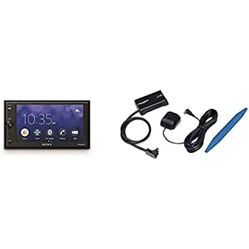 Sony XAVV10BT 15.7cm Media Receiver with Bluetooth with SXV300v1 Connect Vehicle Tuner Kit for Satellite Radio with Free 3 Months Satellite 6.2 inch