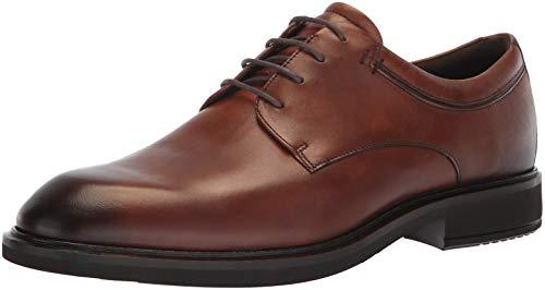 ECCO Men's Vitrus II Plain Toe Tie Oxford, Amber, 44 M EU (10-10.5 US)