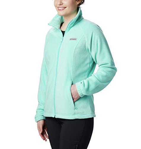 Columbia Women's Benton Springs Full Zip Jacket, Soft Fleece with Classic Fit, Aquarium, Large