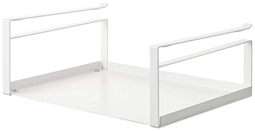 YAMAZAKI home Under Shelf Storage Rack - Plate Cabinet Organizer, White - Home Rack Storage