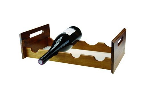 Apollo Acacia Wood Wine Rack, Set of 1, Brown