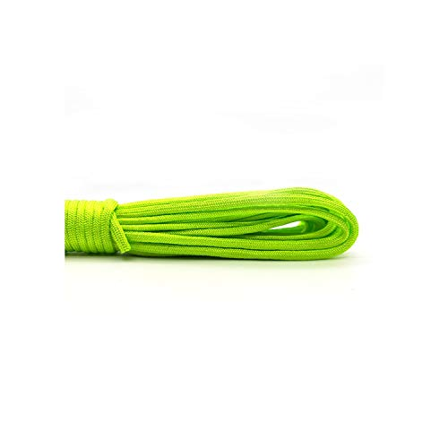 550 Paracord Parachute Cord Lanyard Tent Rope Guyline Mil Spec Type III 7 Strand 100FT for Hiking Camping 208 Colors,Green,Other