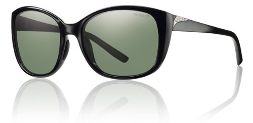Smith Lookout Sunglasses - Women's - Polarized ChromaPop Black/Gray Green, One Size