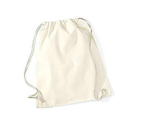 Box Deal!-100 Pcs Natural Cotton Drawstring Backpack Sports,GYM,Bags,Promotional by Georgiabags