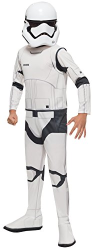 [UHC Boy's Villain Storm Trooper Theme Outfit Party Kids Halloweem Costume, M (8-10)] (Stormtroopers Outfit)