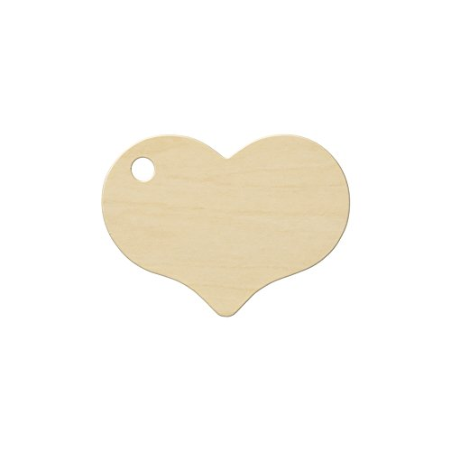 Wooden Heart Tags, 2-5/16