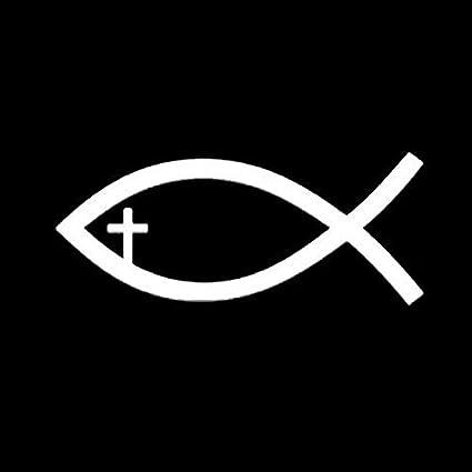 Color : Black Personalized car stickers 10 X 4.2CM Accessori for vetri in vetro for autoadesivo for applique for auto simbolo di pesce cristiano di Ges/ù csfssd