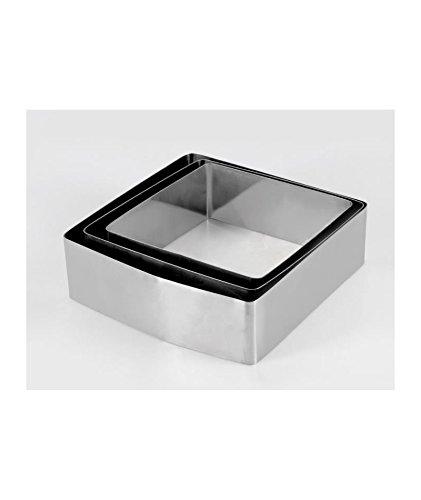 Equinox 516608 – Juego de 3 moldes de Pastel Forma Cuadrada Acero Inoxidable 6,5