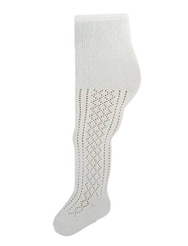 d4cce92534525 Amazon.com: Soxsmith 4 Pairs Baby Girls' White Cotton Pelerine Tights 0-6  Months UK Made: Clothing