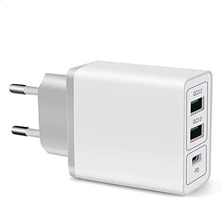 ONELY QC3.0 USB Cargador 30W rápido Cargador Movil Universal ...