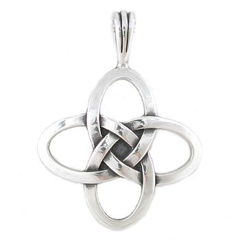 Amazon celtic love knot pendant in sterling silver for men and celtic love knot pendant in sterling silver for men and women 8198 aloadofball Image collections