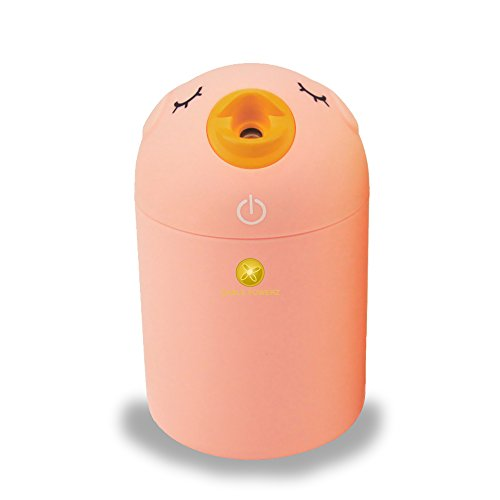 Adorable Fancy Cartoon Bird Air Humidifier Mini Portable Ultrasonic Desktop Cool Mist Humidifier Air Purifier USB Powered For Home, Office, Car (Pink)
