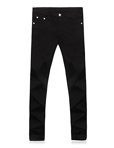 Demon&Hunter Skinny Hombre Pantalones Vaqueros Pitillos Jeans Negro S8020x5 Negro