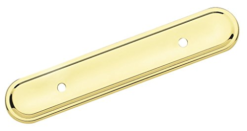 Brass Amerock Backplate (Amerock BP7593 Allison Value 3 in (76 mm) Center-to-Center Polished Brass Cabinet Backplate)