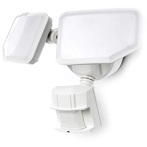 Home Zone Security Motion Sensor Security Light - Outdoor Weatherproof 5000K LED Frosted Lens Flood...