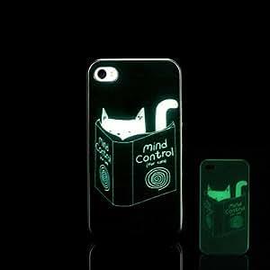 ZMY Funda Trasera - Gráficas/Diseño Especial/Fosforescente - para iPhone 4/4S Plástico )